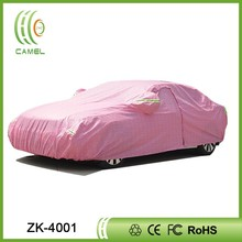 Pink car cover Insulated waterproof breathable fabric sewing heated car cover