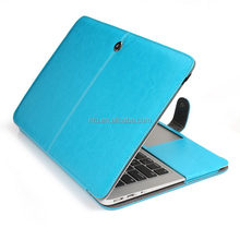 PU Leather Skin Case Cover for Apple Macbook Air 11 (Models: A1370 & A1465) (Leather-Blue)