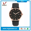 High-grade rose golden alloy case watches waterproof chronograph watches for men