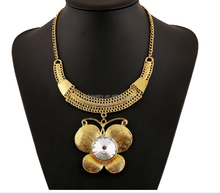 Exaggerated Major Suit Of High Grade Alloy Jewel Butterfly Necklace
