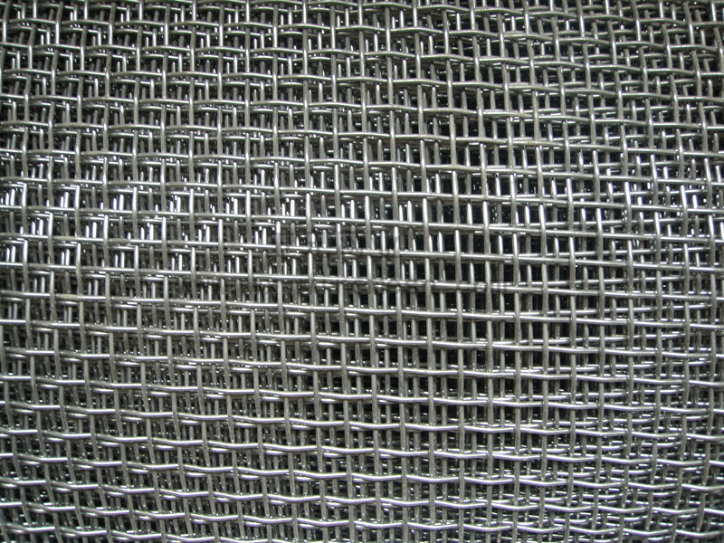 Trou carr en acier inoxydable treillis m tallique serti for Fenetre a fer maille et verre dormant