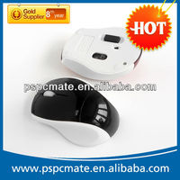 2013 2.4g RF computer black colour optical wireless laser mouse