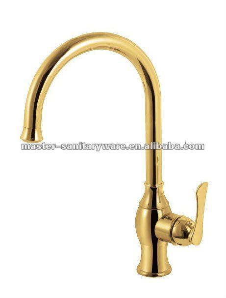 Ornamentado de luxo de ouro pia do banheiro tap