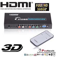 Ypbpr RGB 5 RCA Component VGA to HDMI TV Converter Adapter