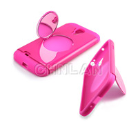 for Samsung Galaxy s4 PC silicon double case,dual hybrid phone case for S4