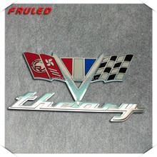 metal chromed logo car accessory racing car logo