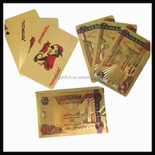 24k gold foil poker traditional poker style playing cards decks