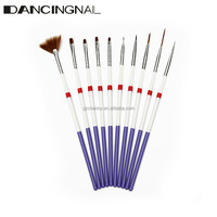 9Pcs Nail Art Brushes And 1Psc Nails Painting Design Drawing Dotting Pen Manicure Set Professional DIY Beauty Tools