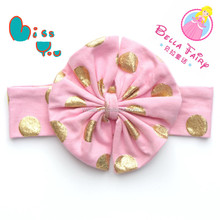 Wholesale baby headband with big bow glitter bow headband baby accessories for girl