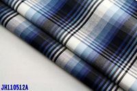 60% cotton 40% polyster check twill shirting fabric