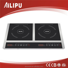 2015 kitchen appliance hot plate induction cooker 2 cooking zone smart induction hot plate with CB certification