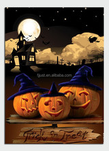 Light up LED art painting on canvas painting for Halloween gift