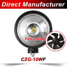 New Design product auto 10W LED work light with fan inside for better heat dissipation