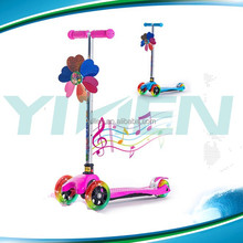 multi function kick scooter ,3 in 1 children scoote with basket and seat