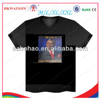 2013 hot selling ktv disco luminouse light up down t shirt led,custom sound activated equalizer cold panel el t-shirt suppliers