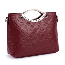 2014 más reciente de la moda de alta calidad de cuero señora bolsa de mano
