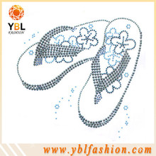 Flip flops design pearl and rhinestone strass motif