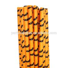 decoraciones de halloween venta al por mayor bates de halloween pajitas de papel