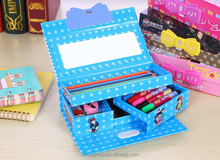 New Snow Queen girls school pencilcase /students Elsa Anna princess multifunctional 3 layer password pensil box /kids stationery