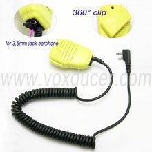 [SM3Y-SL]Handheld speaker mic Yellow walkie talkie for Icom two way radio IC-F3G IC-F3GS IC-G3GT IC-F4G