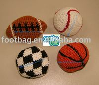 knitted kick ball
