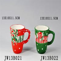 Christmas Ceramic Cup Stoneware Artist Mug ,Hot sales unique design ceramic coffee mug