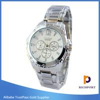 Two tone golden silver wrist watch for women
