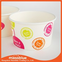 Paper Ice Cream Cup With Plastic Lid