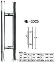 stainless steel door handle for glass door