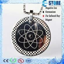 2015 Wholesale Stainless Steel Jewelry Bio Scalar Quantum Pendant Stainless Steel Good Luck Pendant
