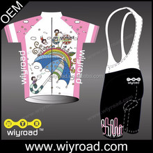 Accept sample order custom pink bike shorts/cycling jersey silicon/cycling wear pink with very good price
