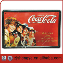 Tin sign,wall hanging sign,outdoor advertising sign