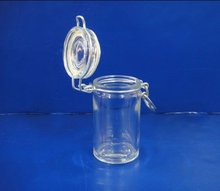 50ml glass spice jar with airtight clamp lid