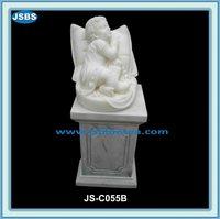 White Kid Figure Statues Stone Child Statue