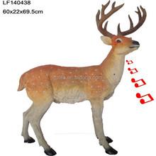 animal motion sensor resin garden sika deer