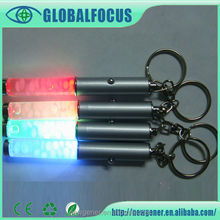 Promotional Gift Liquid Key chain with 7 LED light