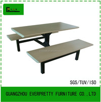 Restaurant tables and benches /high duty restaurant tables with benches /cheap wood long table and benches