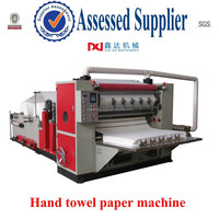 Automatic embossing V folding hand towel paper machine plant