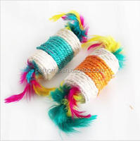 stocked and indoor sisal and feather scratching toys for cat