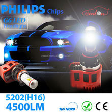 Qeedon qualified all in one h4 4500lm type led headlight kit 45W motorcycle harley
