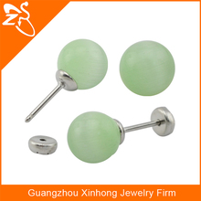 button pearl stud earring, China custom high quality beads earrings, latest design of pearl stud earring