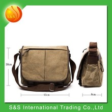 Simple classic functional military canvas messenger bag