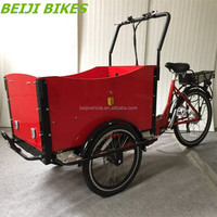3 wheel family electric tricycle cargo bikes ice cream bicycle for sale