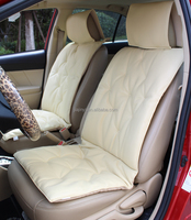PVC leather car seat cover in beige colour