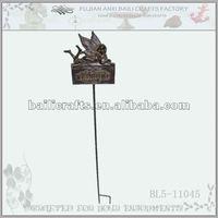 iron angel flower stake