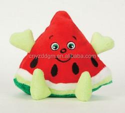 plush watermelon toy/ stuffed watermelon toy/watermelon fruits stuffed toy