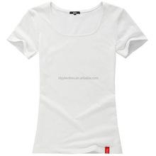China manufacturer cheap wholesale plain blank womens T-shirt OEM white tshirt