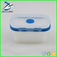 Clear silicone food container with lock