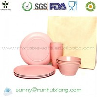 Eco-friendly and biodegradable dinnerware made from bamboo fiber powder and rice hull