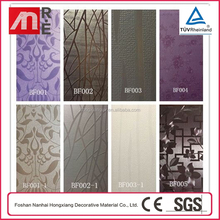 High Impact Transparent Color 3D Wood Panel Wall For Bathroom